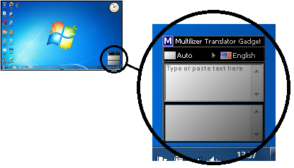 Multilizer Gadget is translation tool for Windows desktops