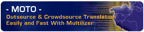 MOTO - Outsource and crowdsource translation online with Multilizer