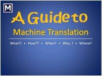 Un Guide pour la traduction automatique