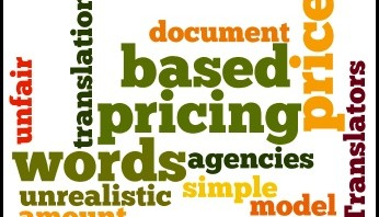 Price per words is commonly used by the translation industry.