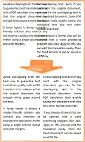 How to Avoid and Fix Overlapping Text in Automatically Translated PDFs